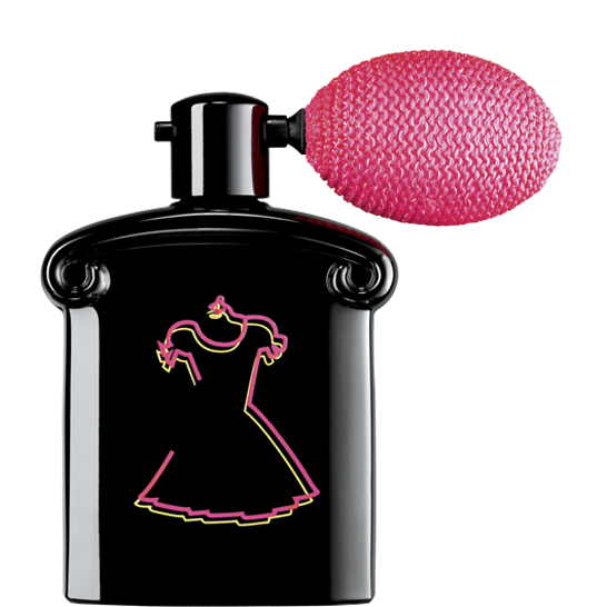 LA PETITE ROBE NOIRE  SO CRAZY BY GUERLAIN - $89 - This shimmering body and hair mist will set you back a few bucks but the scent and effect it has on your hair is worth it. A few spritzes of this stuff and you'll feel like the sugarplum fairy. This fine powder shimmers onto the hair (and body) with an iridescent pink halo. It also gives off a scent of black cherry, almond, Bulgarian rose, liquorice, and smokey black tea. Don't worry, you won't end up looking like you just stepped out of the early 2000's. It's definitely more subtle than throwing a bunch of glitter on your noggin.