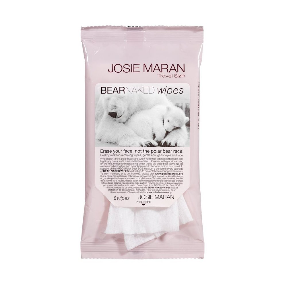BEAR NAKED WIPES BY JOSE MARAN - $12 - When my makeup is done dripping down my face and I look like a melted crayon, I love to use Josie Maran's Bear Naked Wipes. These little suckers erase the day from your face and protect the polar bears' place at the same time. A portion of what you pay for each pack goes to the Natural Resources Defense Council's Polar Bear SOS Initiative. These soothing and hydrating wipes are soaked in skin-balancing Argan Oil along with aloe vera, cucumber extract, and Vitamin E. They're also biodegradable and they leave your skin smelling clean and fresh.