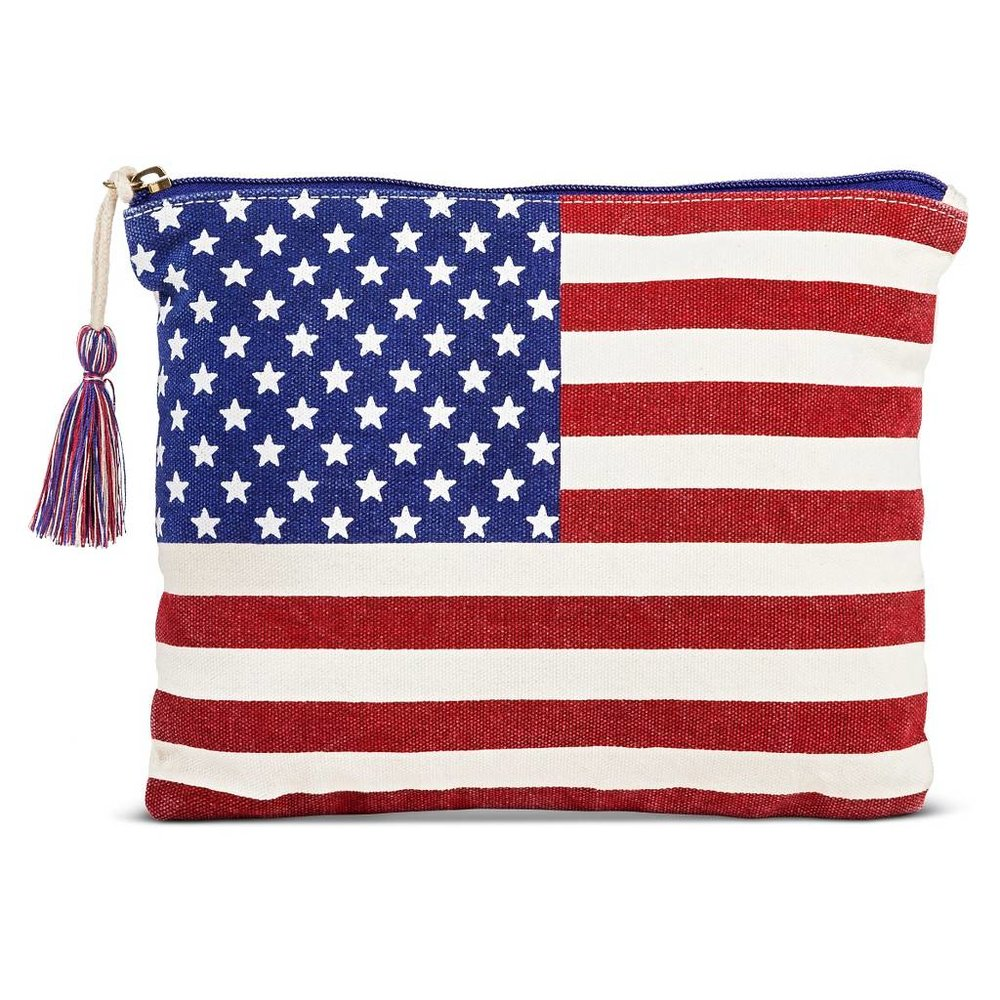 Twig & Arrow Women's Printed American Flag Pouch ($12.99) - This patriotic pouch by Twig & Arrow is fun and simple - great for holding basics like lip gloss and touch up powder. There is an interior pocket for your cellphone if you want to use it as a clutch (it's cute enough, right?) and sturdy enough to throw into a larger purse. I love the mini red, white, and blue tassel that hangs from the zipper enclosure. It's easy to add a pop of color with this bag. Available at Target.