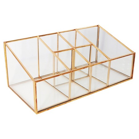 Threshold Glass and Metal Incline 6 Compartment Vanity Organizer ($18.99)
