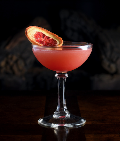 Revived Corpse - 1 oz. Gin Lane 1751 Victoria Pink3/4 oz. Aperol1 oz. Solerno Blood Orange3/4 LemonOil from lemon rindShake vigorously over ice and strain into a coupe or martini glass.