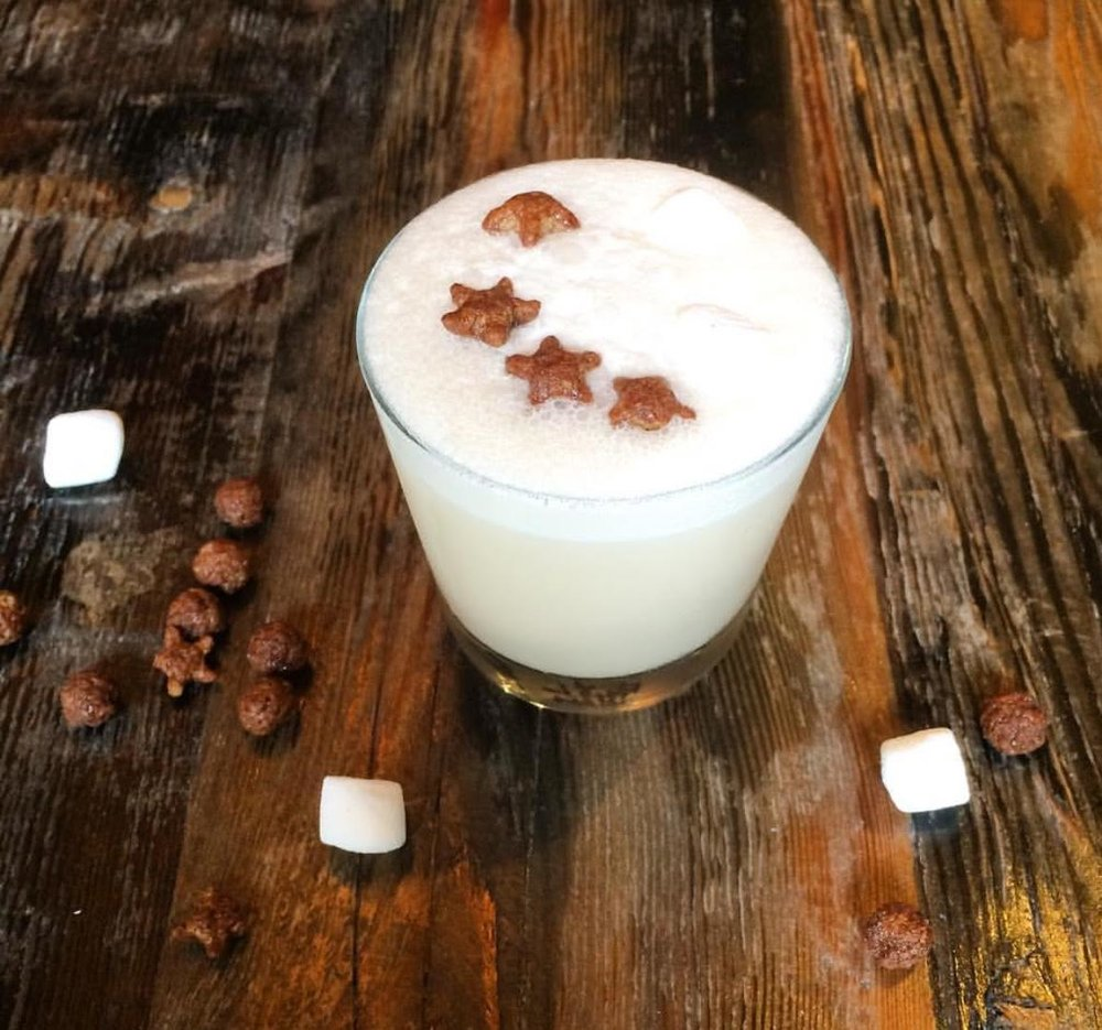 The Count at The Atwood - BourbonCreme de CacaoFresh Lemon JuiceEgg White