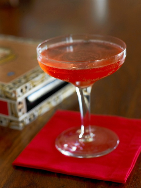 El Presidente - 1½ oz. rich white rum1½ oz. Dolin Vermouth Blanc (Martini & Rossi) or Cinzano Bianco are fine substitutes)1 barspoon orange Curaçao or Grand Marnier½ barspoon real grenadineGarnish: Maraschino Cherry (optional)Stir ingredients well with cracked ice and strain into a chilled glass. Twist a swatch of thinly cut orange peel over the top and drop in or discard. Garnish, if desired, with a cherry.