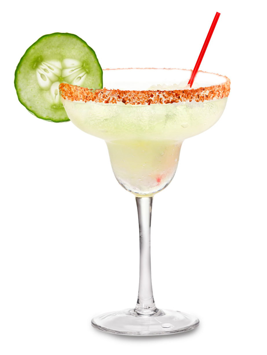 Cucumber Margarita - 2 oz. Tres Papalote Mezcal1 oz. Cucumber Juice.75 oz. Fresh Lime Juice.5 oz. Agave NectarShake and strain over fresh ice in a rocks glass. Add half rim of spicy chili salt with a sliced grilled jalapeno.