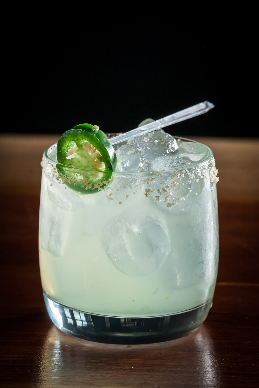 Jalapeno Margarita - 3 pieces muddled jalapeño (no seeds)1.5 oz. Casamigos Blanco.5 oz. Cointreau.5 oz. simple syrup1.5 oz. fresh lime juiceIn a shaker, muddle jalapeño. Add tequila, Cointreau, simple syrup, and fresh lime juice. Top with ice and shake. Serve in rocks glass over ice. Garnish w/ jalapeño slice.