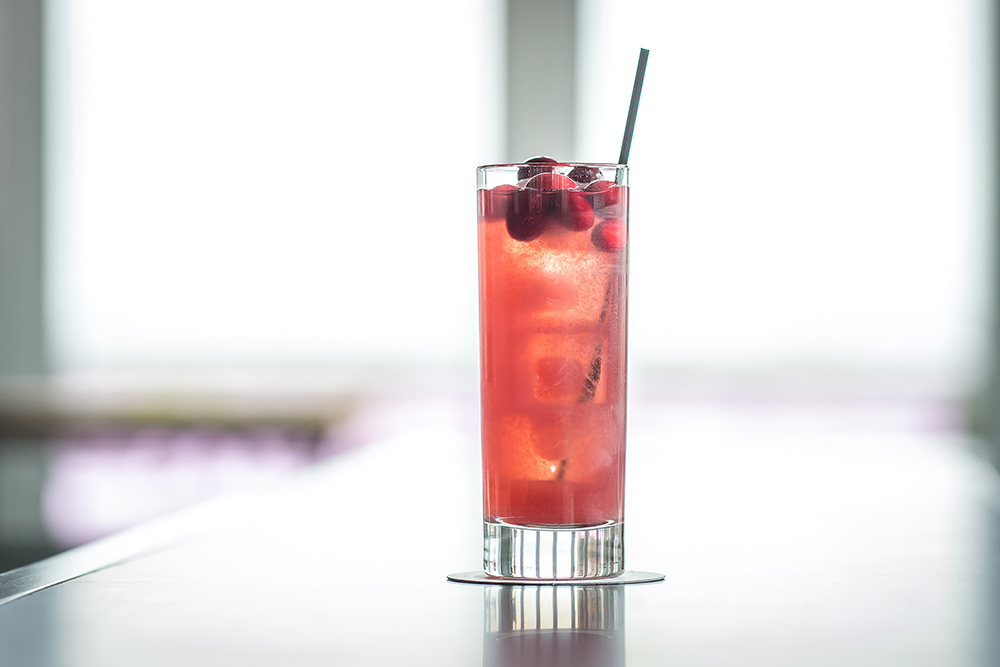 Mr. Purple - 1.5 oz. Casamigos Reposado tequila5.75 oz. Mr. Purple Punch Mix (cranberry liqueur, allspice dram, apple, lemon)Mix and Chill. Highball. 6 cranberries in glass