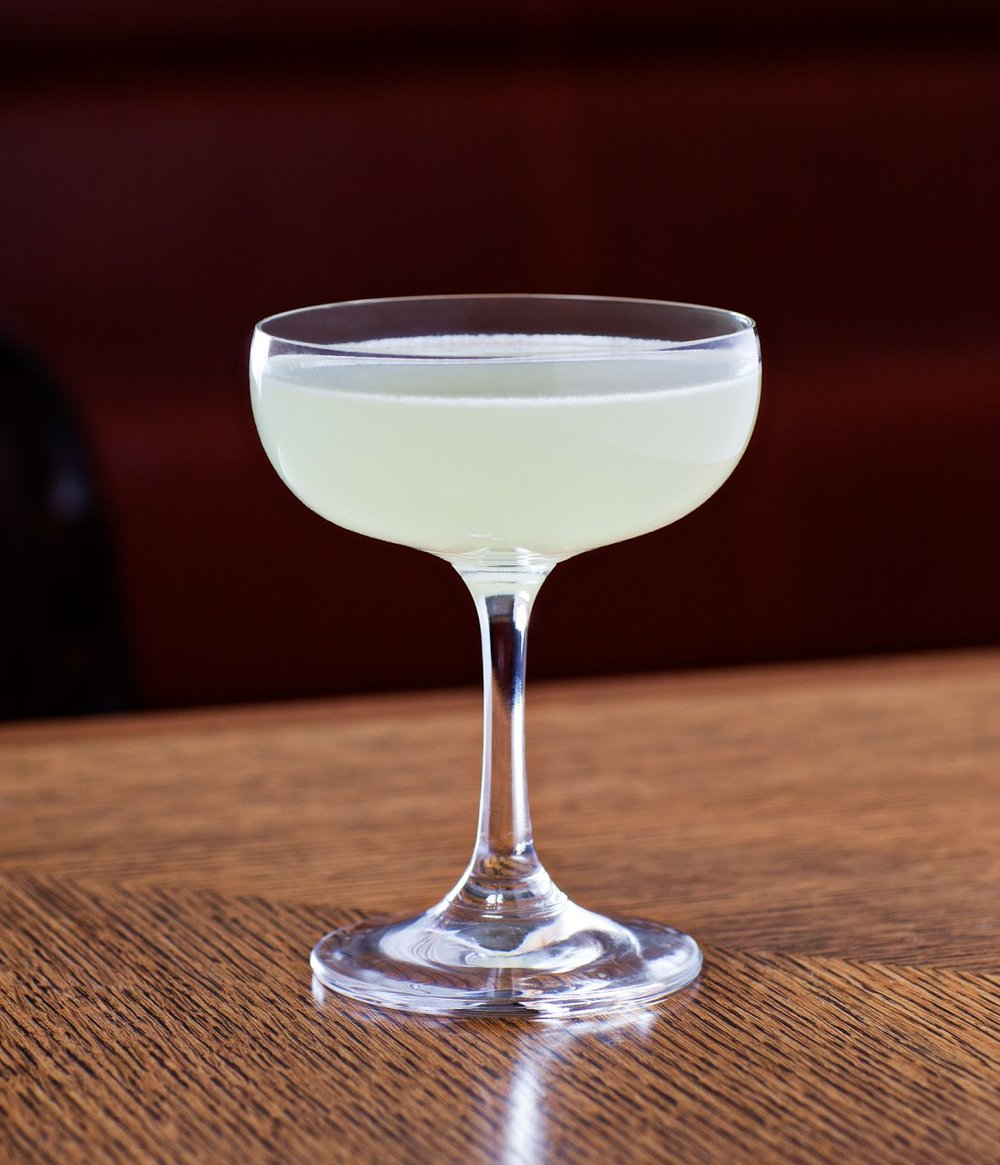 Last Word at Irvington - 1 oz. Hendricks gin.75 oz. Green Chartreuse.75 oz. Luxardo maraschino liqueur.75 oz. Fresh lime juiceShake and strain into coupe glass. No garnish.