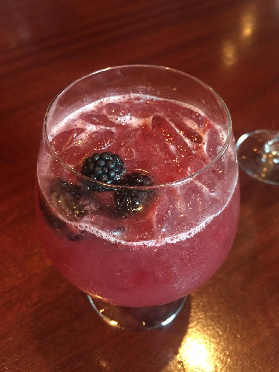 Davio's Summer Sangria - 1.5 oz Berry Infused Tequila.5 oz Crème De Cassis.5 oz Simple Syrup.5 lemon JuiceTop with Pinot NoirDirections: Combine all ingredients. Shake vigorously and strain into an old fashioned glass. Layer pinot noir on top.