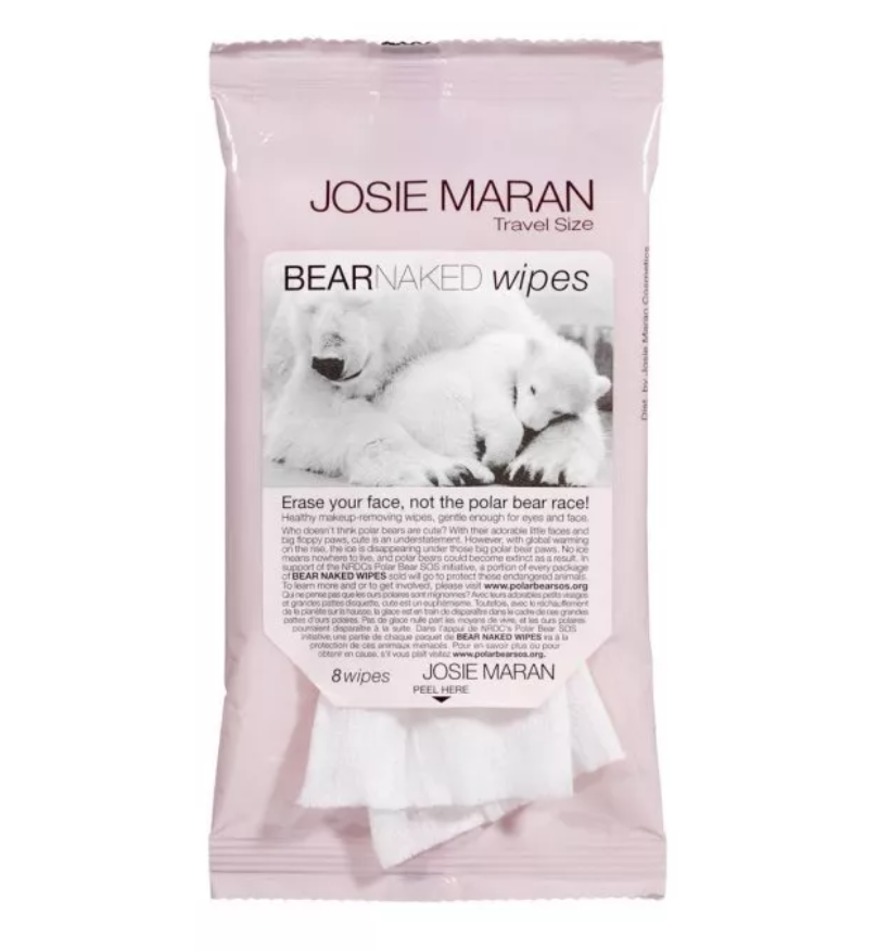Josie Maran Bear Naked Wipes ($12) - Want to take off your makeup gently and help the environment at the same time? Pick up model-turned-beauty mogul Josie Maran's wipes (they're so soft!) and proceeds will go to saving the polar bear race. #eraseyourface
