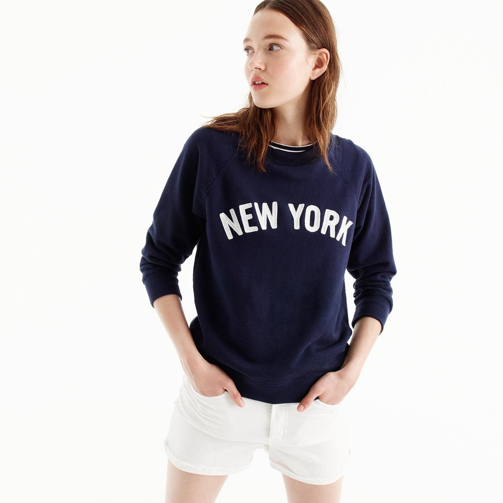 J. Crew New York Sweatshirt ($49.50) - NYC represent! This soft crewneck sweatshirt has a vintage feel but you don't have to break a sweat in order to rock it. #concretejunglelife