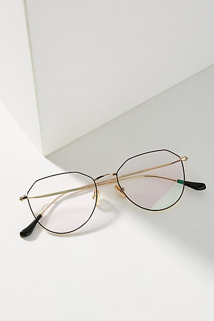 Anthropologie Geometric Reading Glasses ($48) - I wish I needed reading glasses because these are the pair that every nerd wants! Also available in black and lavender. #bookwormenvy
