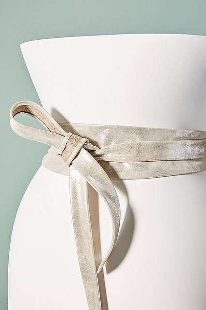Anthropologie Tangerine Wrap Belt ($88) - This festive belt comes in nude, silver, blue motif, and red motif. I love the looseness of it and the texture. I almost wish it came in a smaller version so I could wear it as a chocker necklace. #seamstressplease