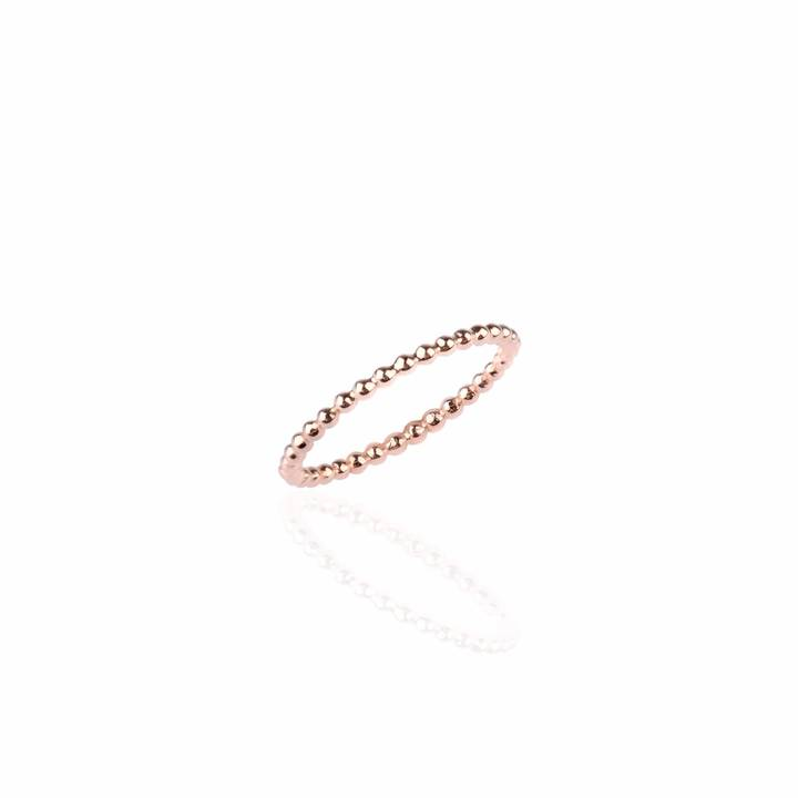 Sharon Mills London Bijou Skinny Eternity Ring Rose Gold ($69) - This simple beaded skinny ring is perfect alone or stacked with your other favorites. Sometimes simplicity goes a long way. #whoneedsbling