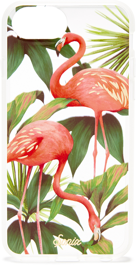Sonix Flamingo Garden iPhone Case ($24.50) - Get whisked away to the tropics with this flamingo iPhone case. At least your phone can escape to a beachy island somewhere. #noSPFneeded