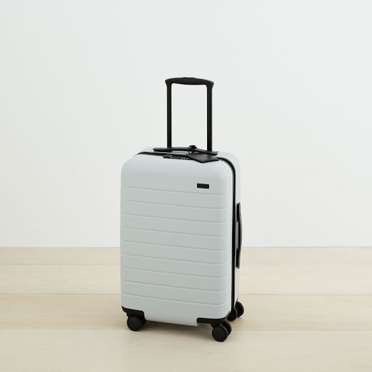 Away Suitcase Carry On ($225) - Modern travelers want all the gadgets included, #amiright? This Away carry on is small enough to stash on a bus, but big enough for a long-weekend's worth of stuff. It comes with a built-in battery and USB port so you can stay fully charged. #dopewheels