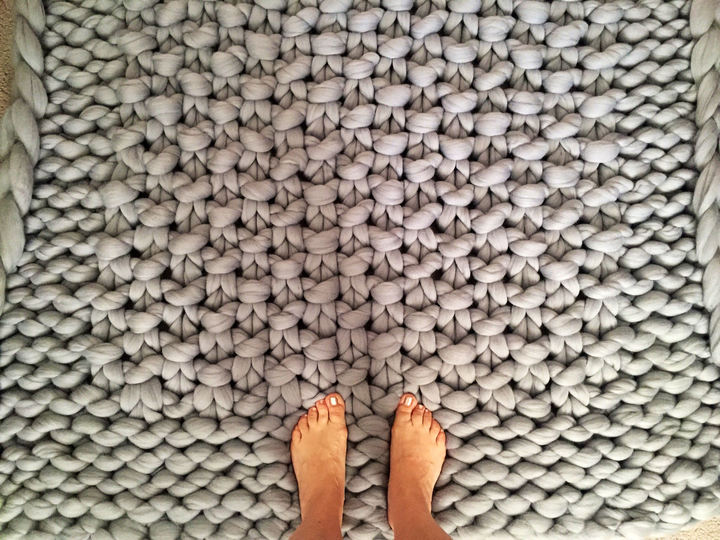 Etsy Chunky Knit Rug ($164) - Go big or go home! Betting on the fact that you'd like your home to be as cozy as possible, this chunky knit area rug (made from 100% Australian merino wool) will do just the trick. Just don't roll yourself up in it and fall asleep! #setanalarm
