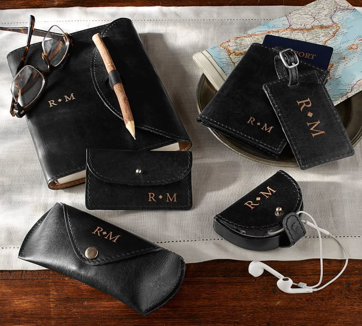 Pottery Barn Earbud Holder ($19.50) - If you're anything like me, your earbuds end up in a messy knot at the bottom of your purse. Order these beautiful monogrammed leather earbud holders and never have that problem again. #canyouhearmenow