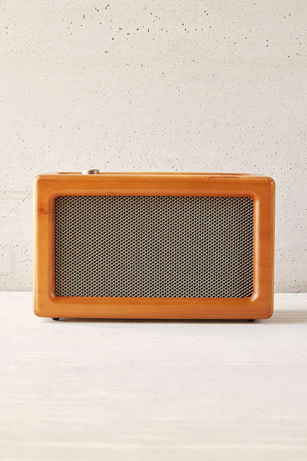 Crosley Harper Wood Wireless Speaker ($79) - Go back in time with this speaker that looks like it belongs in Don Draper's office. Wireless bluetooth compatible design so you can put it anywhere you need it with 6 hours of straight play time. #startwarmingupthosevocalchords