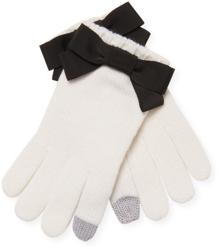 Kate Spade New York Women's Grosgrain Bow-Accented Gloves ($39) - Be girly with your winter gloves this season. Yes, they're white so you have to be careful when it comes to getting them dirty. But they're too cute not to show off. #whitegloved