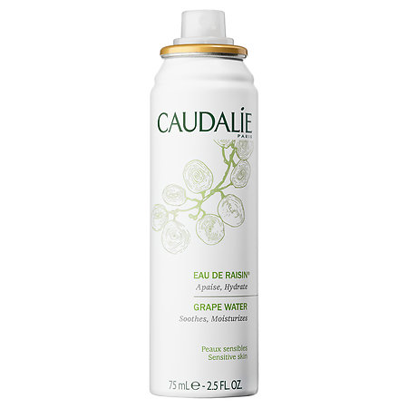 Grape Water by Caudalie ($18) - You want me to spray grapes onto my face? Yes. Yes I do. Face mists are my jam. I didn't know about them until I worked at Bare Escentuals but let me tell you, THEY'RE AMAZING! This one from Caudalie is hydrating, fragrance free, and it can be used to help tame flyaways and moisturize your face so your makeup really sticks. If you've got sensitive skin this one is for you. #justdontuseitasmace