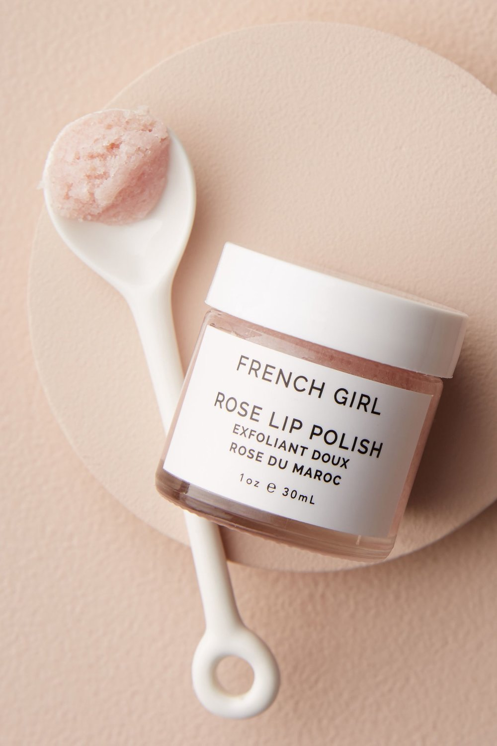 Rose Lip Polish by French Girl ($15) - This rosy scrub is available at Madewell (my favorite winter wardrobe stop) and it exfoliates your lips while leaving them prepped for lipstick and stains. Plus, with ingredients like organic shea butter, coconut oil, mint & rose geranium essential oils, and good old fashioned sugar, you'll want this on your lips all the time. #sugaraddict