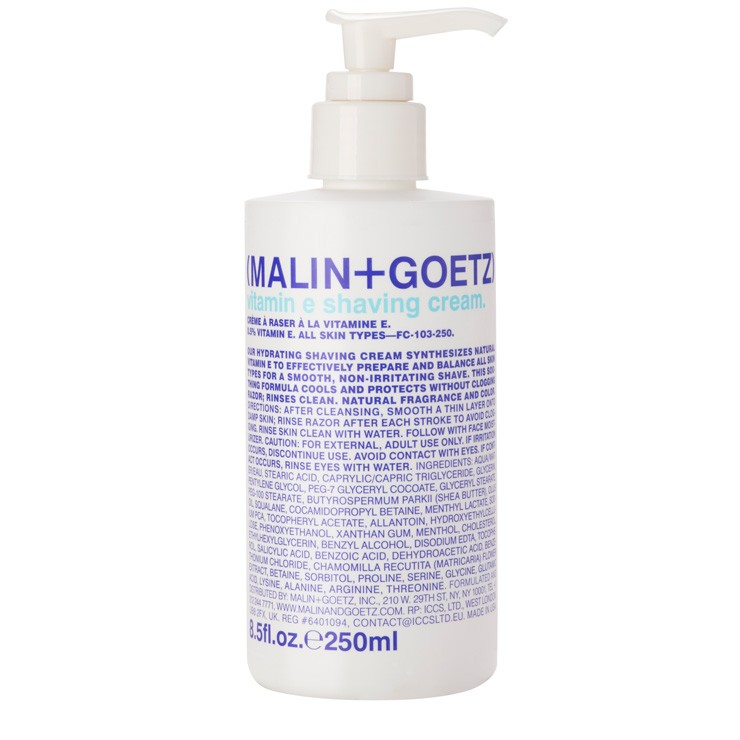 Vitamin E Shaving Cream by Malin + Goetz ($40) - I'm a HUGE fan of Malin + Goetz's shampoo + conditioner sets (if you've ever stayed at a W Hotel you've probably seen them in the bathroom). The added Vitamin E and amino acid proteins in this shaving cream help moisturize prep your skin so you don't step out of the shower with razor burn. This is why I avoid shaving in the winter but this might be changing now that I've found this product. #byebyeleghair
