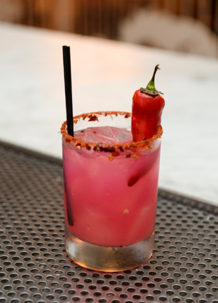 Picante Passion Tequila - AVAILABLE AT STK MIDTOWNTequilaLimeRed Chili PepperWatermelonTajin Spiced Rim