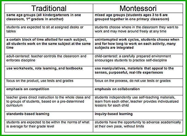 Montessori vs traditional?