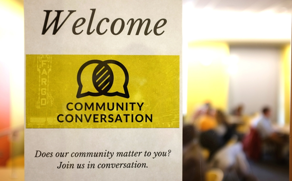 The Community Conversation that I hosted with my company, Folkways, at the public library.
