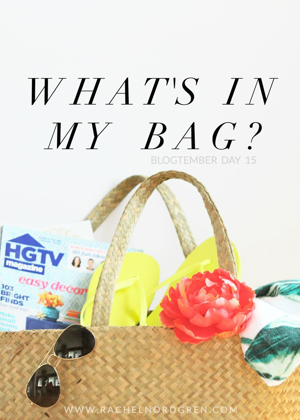 Blogtember Challenge: What's in my bag?