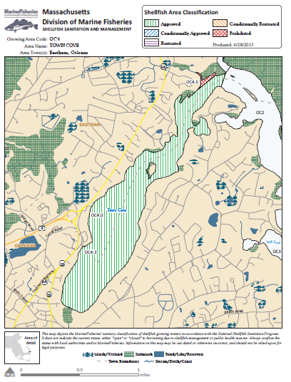 Designated Shellfish Growing Areas - MA