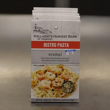 Halladay's Harvest Barn of Vermont Scampi Bistro Pasta Seasoning