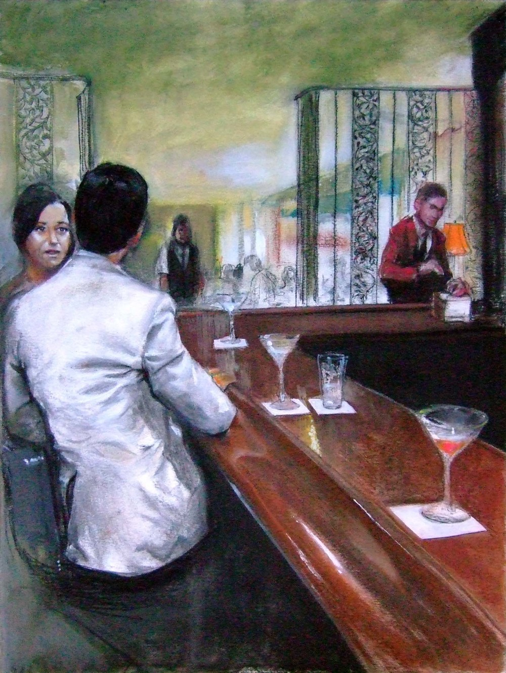 At the bar, Gene's