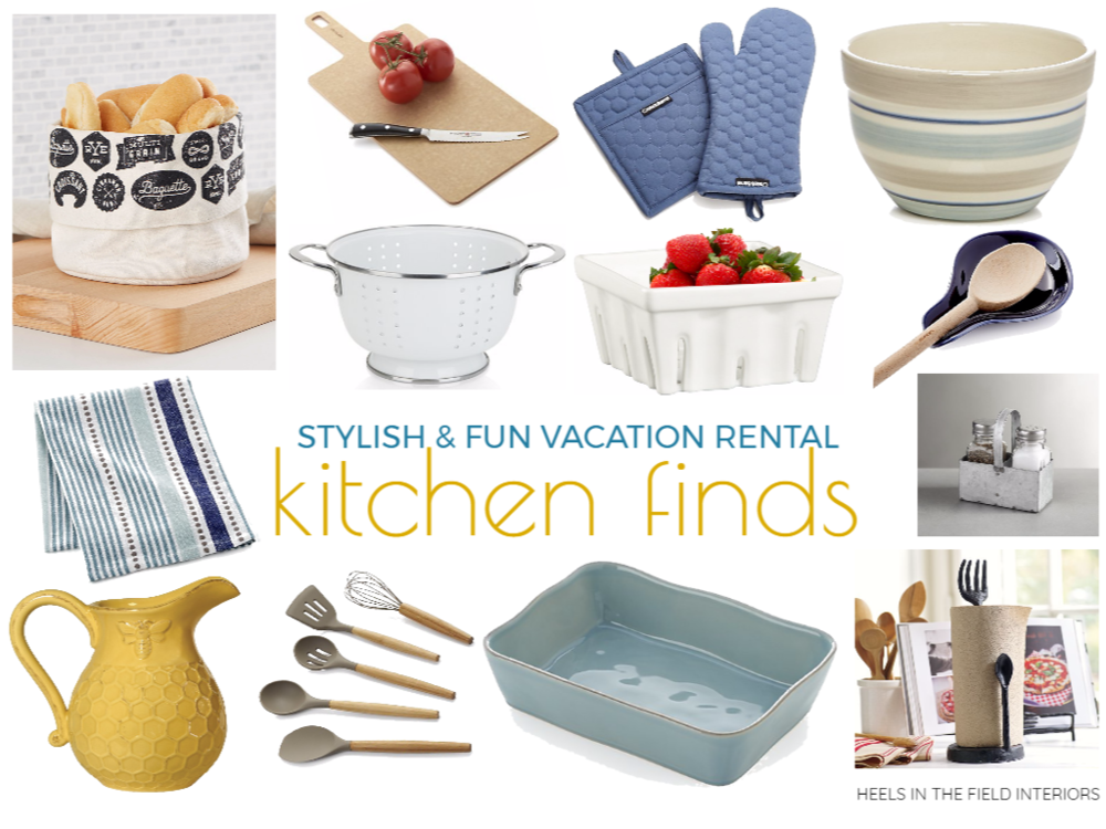Fab vacation rental kitchen finds.