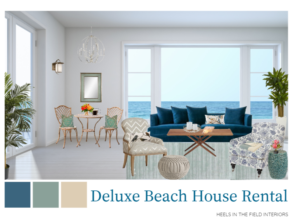 Beach house rental decorating ideas