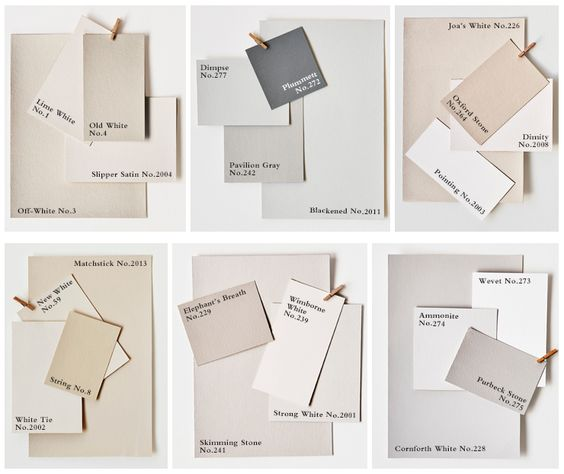 Farrow & Ball -  Six Neutral Colour Families