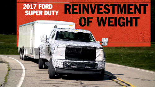 Reinvestment of Weight   FORD SUPER DUTY