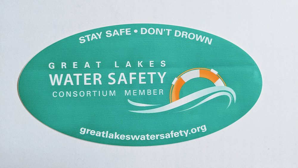 Member Bumper Sticker - Already a member of the Great Lakes Water Safety Consortium? Not sure? Fill out the form below. It's free to join and so is the sticker.