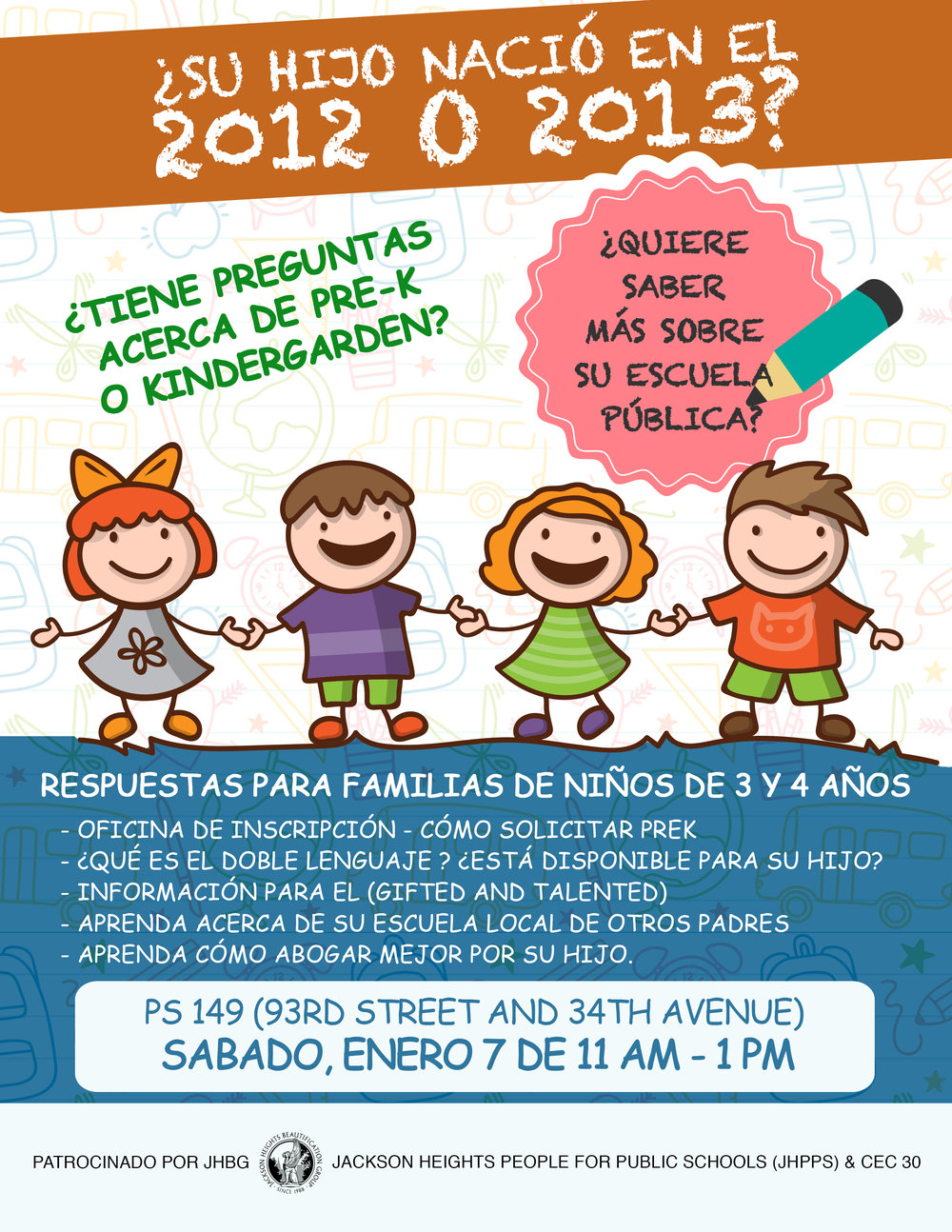 Kindergarten and Pre-K Flyer (Spanish)