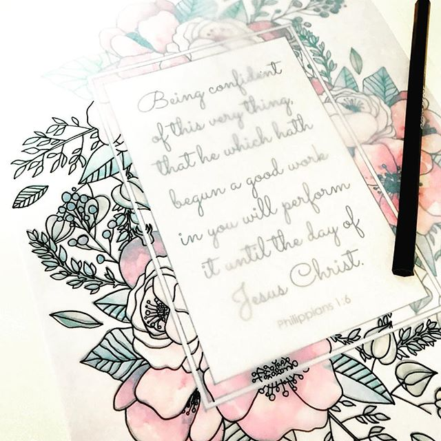 A popular favorite getting sketched and ready for coloring! Coming soon! 😍 . . . #adultcoloringbook #etsy #biblescripture #christian #philippians1 #newtestament
