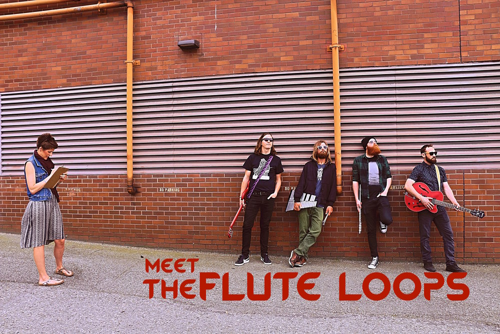 The Flute Loops   are (L-R): Peter, Jason, Thomas, and Lance