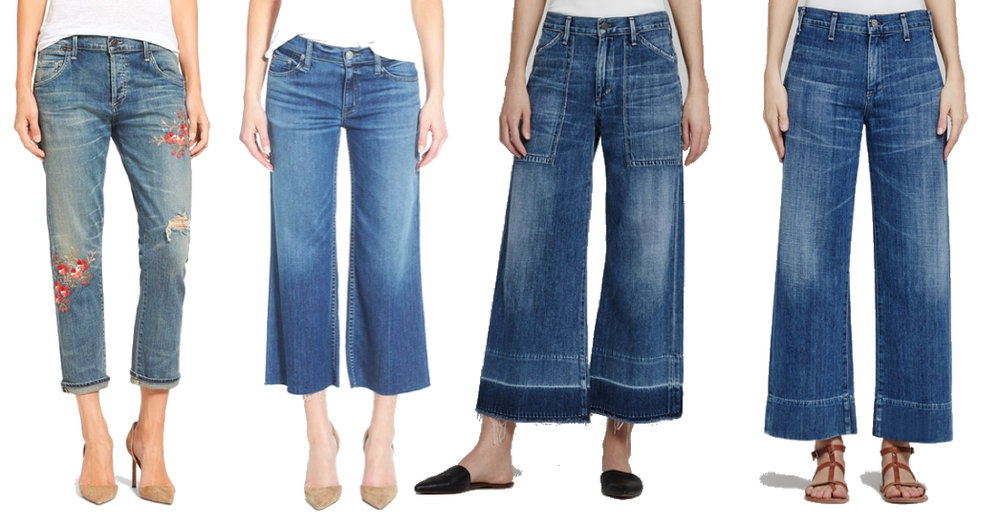 from left: Citizens of Humanity, Mother Denim,