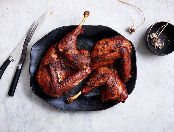 Grilled Spice-Brined Turkey