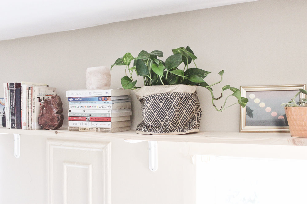 plant bag: h&m home petrified wood bookend: grandma's basement