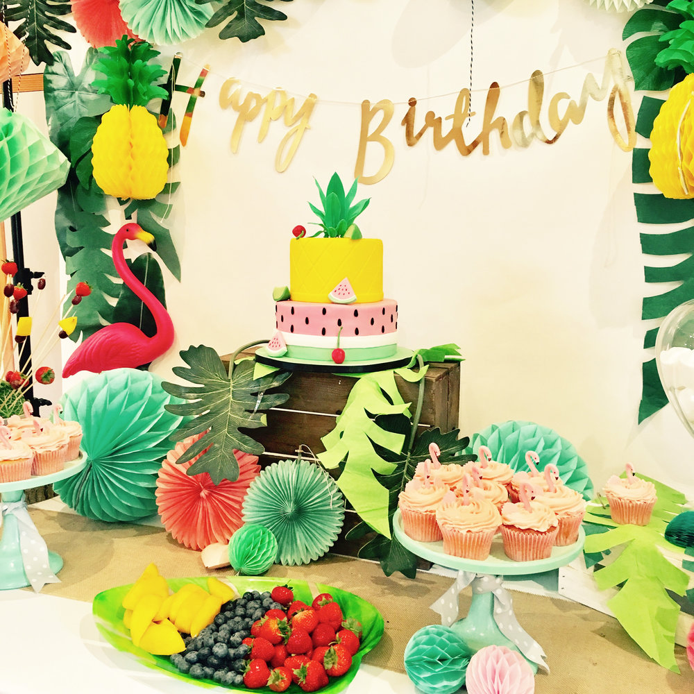 Mrs Myrtle Tropical themed party was so fun to create.