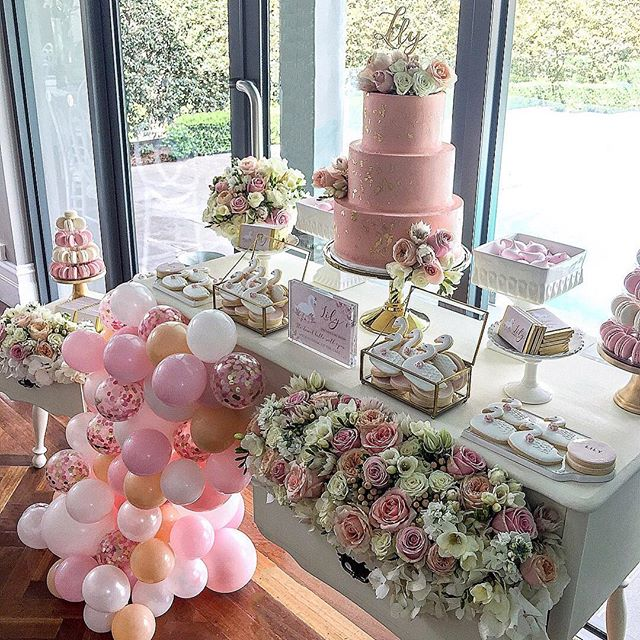 🌸🍡🎀💕💖Pretty in pink for all to see. This elegant dessert table for Lily's 1st birthday. What beautiful and style by talented @candybuffetsbydesign  Styling, Floral Arrangements, Cake Florals & Balloon Garland: @candybuffetsbydesign  Swan cookies: @sweeteve1  Paperie: @edgehousedesign  Birthday Cake: @blackbirdcakes  Cake Topper: @artisticsignage  Meringue kisses: @taylor_made_gourmet  #1stbirthday #christening #swantheme #birthday #balloongarland #cakestagram #wedding #weddinginspiration #babyshower #prettyflowers #bridalshower #melbournewedding #londonevents #events #eventplanner #eventstyling #melbournestylist #candybuffet #dessertbuffet #desserttable #weddingphotography #graphicdesign #instadaily #candybuffetsbydesign #picoftheday