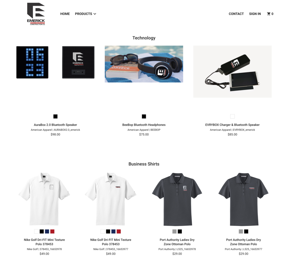 EMERICK LOGO ITEMS - STORE