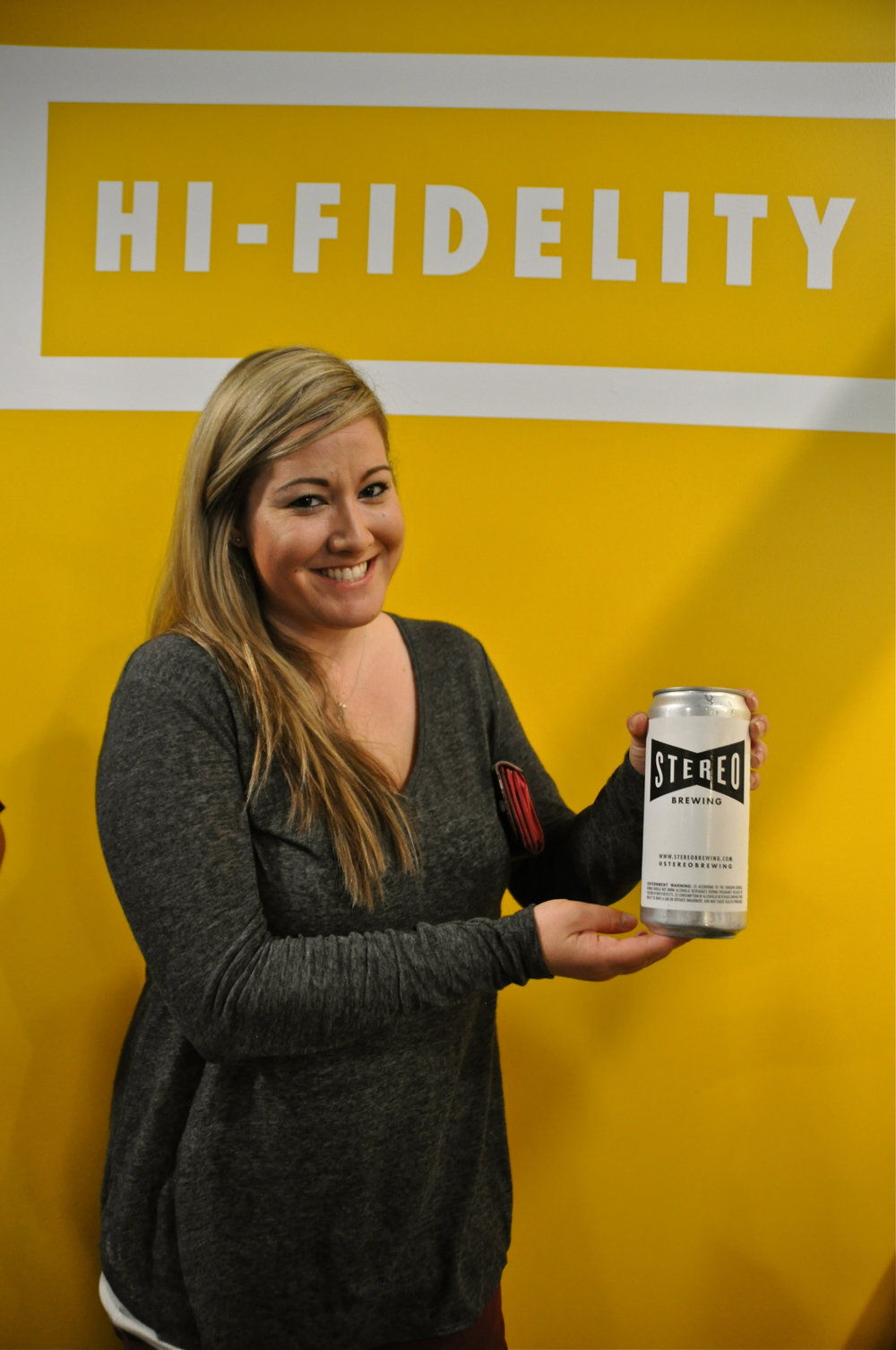 Lauren Pontious showing off Stereo's new crowlers!