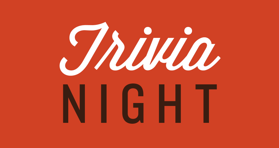 ONE NIGHT ONLY! Join us for our first ever trivia night by Pop Quiz Trivia. Test your knowledge of pop culture, music and random shit - plus win STEREO gift cards and prizes. Seating is first come first serve. Fun times for all!
