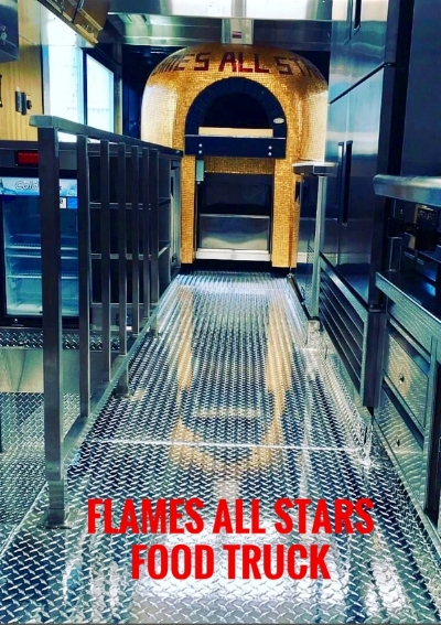 FlamesAllStars Mobile Restaurant- Serving Italian Neapolitan Style Pizzas. I am very interested in becoming a long-lasting partner and serving your clients and customers at Stereo Brewing, as you will find us very professional services from our five-stars Mobile Restaurant. FlamesAllStars strives every day to bring the best of the best of top quality products and produce using Italian products such as a 00Flour, SanMarzano Tomato Sauces, and of course the best Italian cheese available, our values to making clients and customers enjoying their meals to very last bite, this is our reward!
